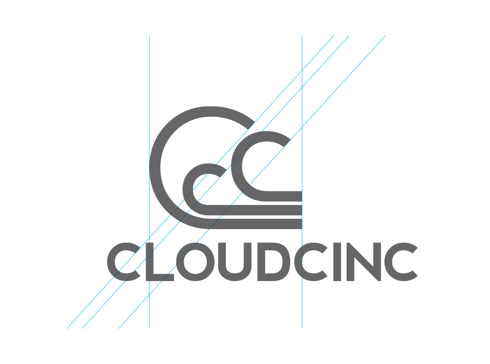 Cloudcinc logo with construction lines
